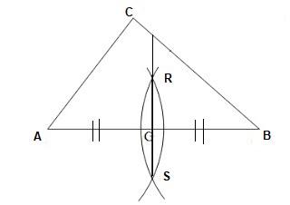 Langkah langkah melukis garis sumbu pada segitiga