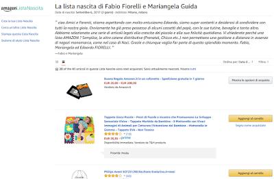 Lista Nascita di una mamma di Milano su Amazon