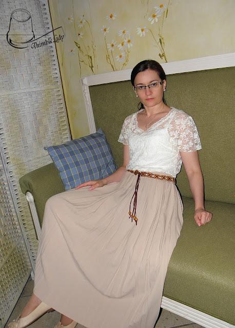 plisowana maxi spódnica