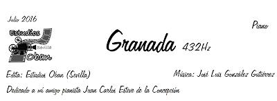 Granada 432 Hz de José Luis González Partitura de Piano
