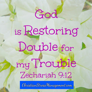 God is restoring double for my trouble Zechariah 9:12