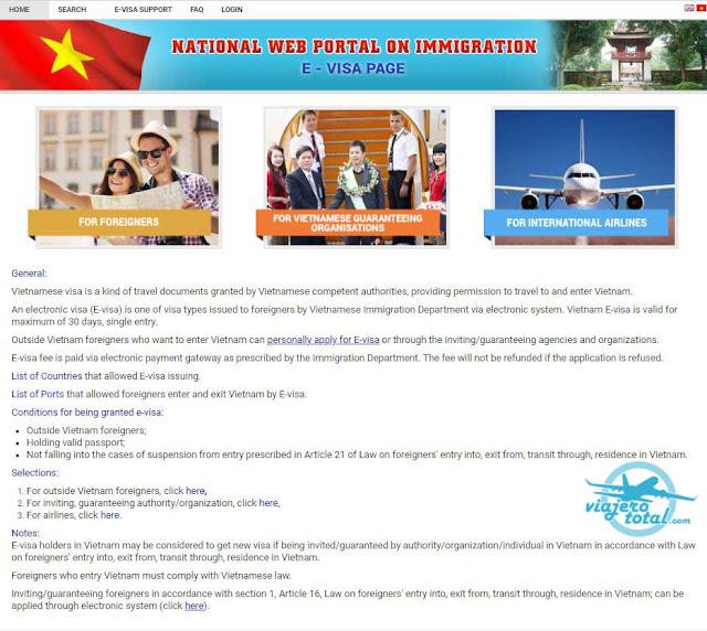 Visado electrónico para acceder a Vietnam - eVisa