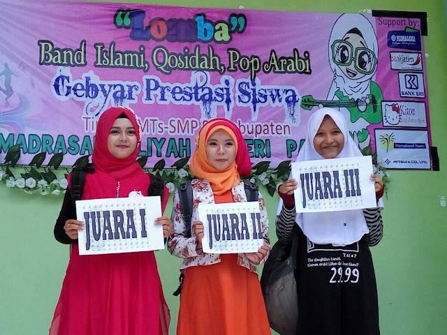 Intan Dini Anggraini, Antarkan MTsN Paiton Juara I Qosidah dan Juara II POP Islami