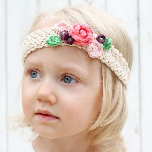 Free Crochet Flower Headband Pattern