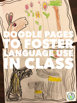 Doodle Pages Activity for World Language Class Spanish French