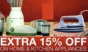 Upto 50% Off +Extra 15% Discount on Select Home & Kitchen Appliances@ Flipkart