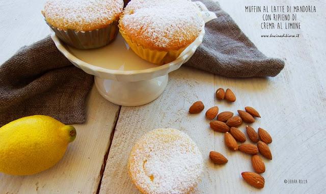 Muffin al latte di mandorla con crema al limone