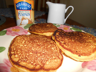 Pumpkin pancakes on Living from glory to glory blog