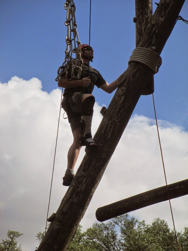 Ernie tackles a confidence course during the IDEO program