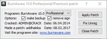 BurnAware 10.1 crack patch
