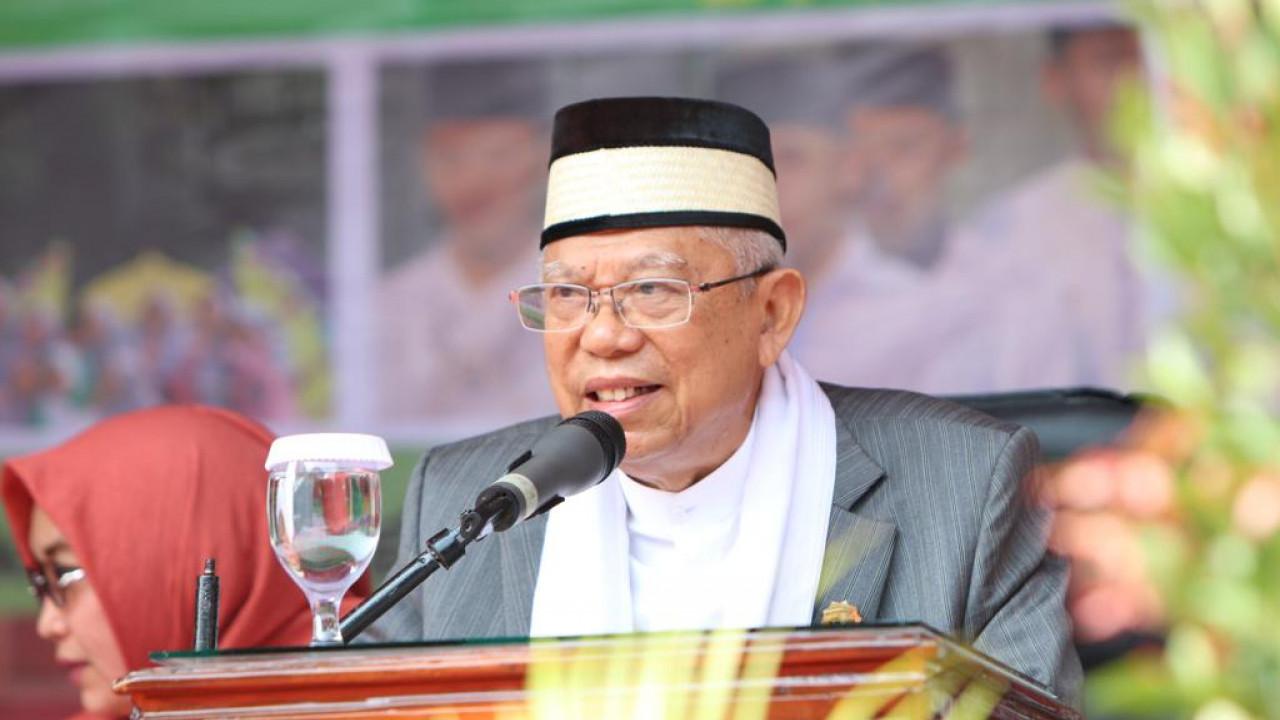 Sindir Prabowo Soal Utang, Ini Kata Ma'ruf Amin