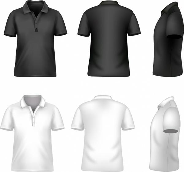 Blank Men t-shirt Free vector