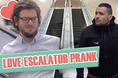 Love Escalator Prank – FUNNY VIDEO