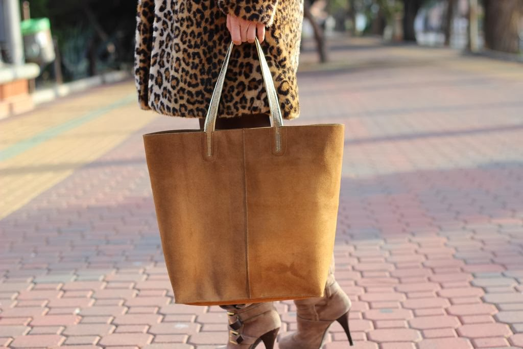 Shopping bag- Camel