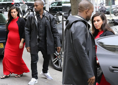 kanye west kim kardashian in paris