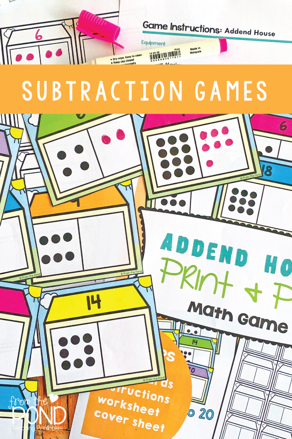 Missing Addend Subtraction Games