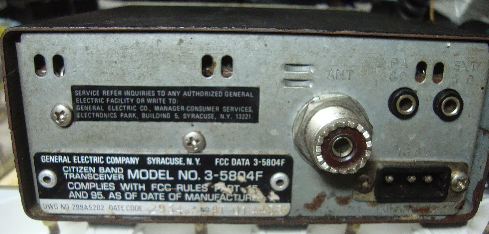 RADIO SELLER: CB General Electric 40 Chanel (SOLD)