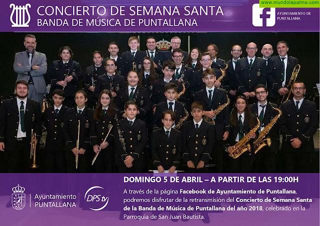 Concierto de Semana Santa de la Banda de Música de Puntallana en Facebook