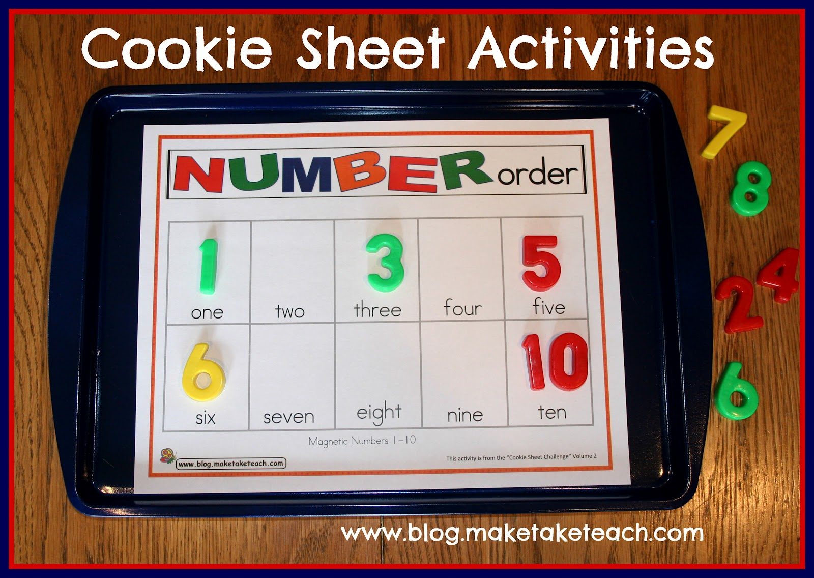 Classroom Freebies Too Cookie Sheet Activity Number Order
