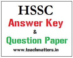 image : Download HSSC Answer Key & Q. Paper - TGT/PGT @ TeachMatters