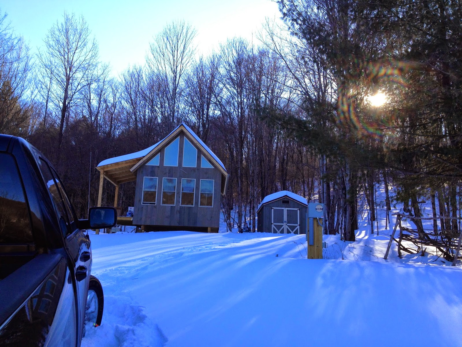 Adam And Karen S Tiny House In Equinunk Pa Snowed In