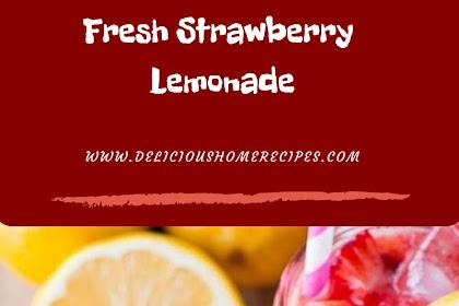 Fresh Strawberry Lemonade #christmas #drink