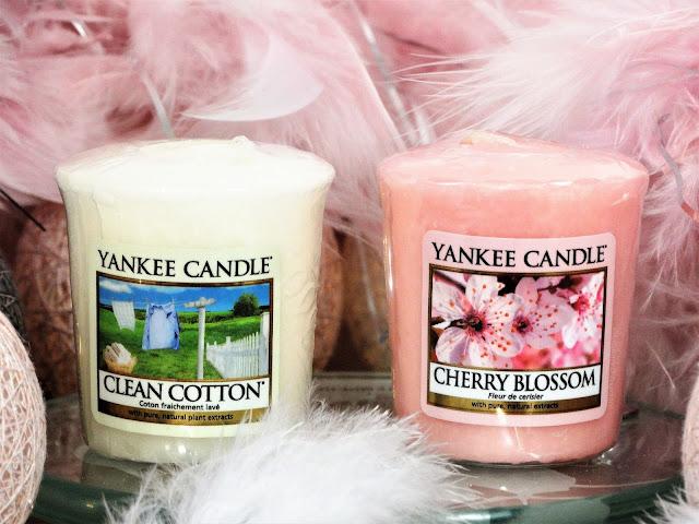 Avis Clean Cotton & Cherry Blossom de Yankee Candle, blog bougie, blog beauté