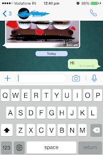 WhatsApp iOS 7.1.2 iPhone 4