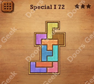 Cheats, Solutions, Walkthrough for Wood Block Puzzle Special I Level 72