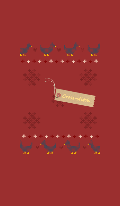 Cross-stitch + cherry red [os]