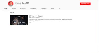 Youtube Panggil Saya BTP