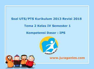 Contoh Soal UTS/ PTS Tema 2 IPS Kelas 4 Semester 1 K13 Revisi 2018
