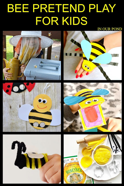 A Celebration of Bees- Ideas and Printables for Kids // In Our Pond // pretend play // kids crafts // puppets