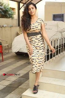 Telugu Actress Karunya Chowdary Stills in Short Dress at ATM Not Working Press Meet  0274.jpg