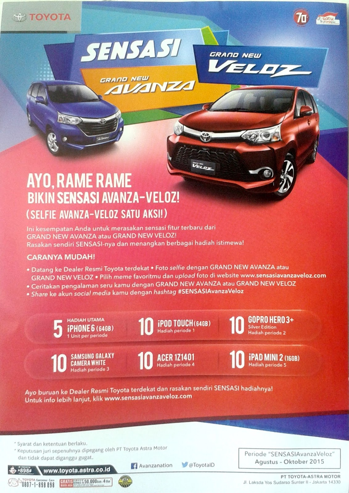 Harga Grand New Avanza Veloz Toyota Yaris Trd Sportivo 2018 Sensasi And Auto 2000