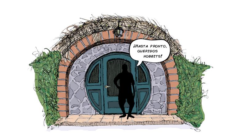 dibujo, Casa Hobbit