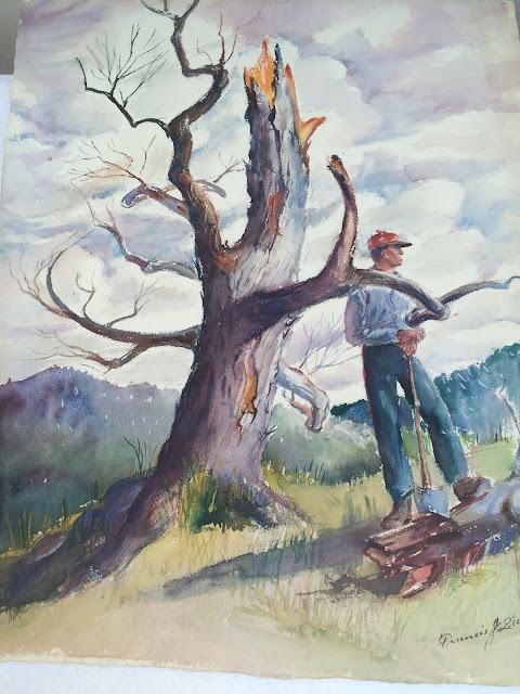Lumberjack watercolor by Francis Quirk