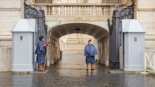 Swiss Guards are waiting
