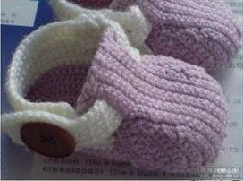 Sapatinhos de Crochê Para Meninas lilases