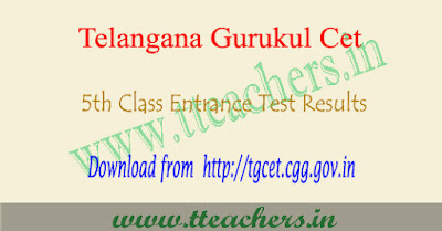 TS Gurukulam 5th class result 2018, Tgcet results date