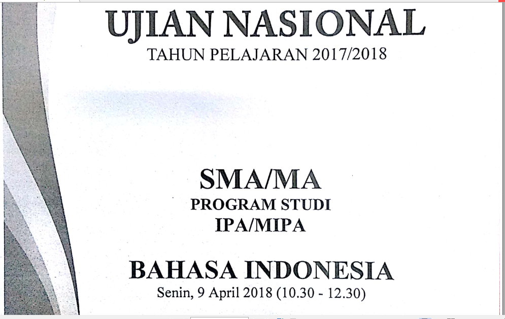 Pembahasan Lengkap Soal Un Tahun Pelajaran 2017 2018 Bahasa Indonesia Sma Ma Nomor 1 50 Zuhri Indonesia