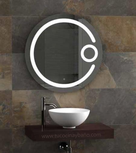 Espejos para el ba o tu cocina y ba o for Bano con espejo redondo