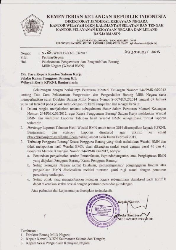 contoh surat dinas kementerian keuangan surat f