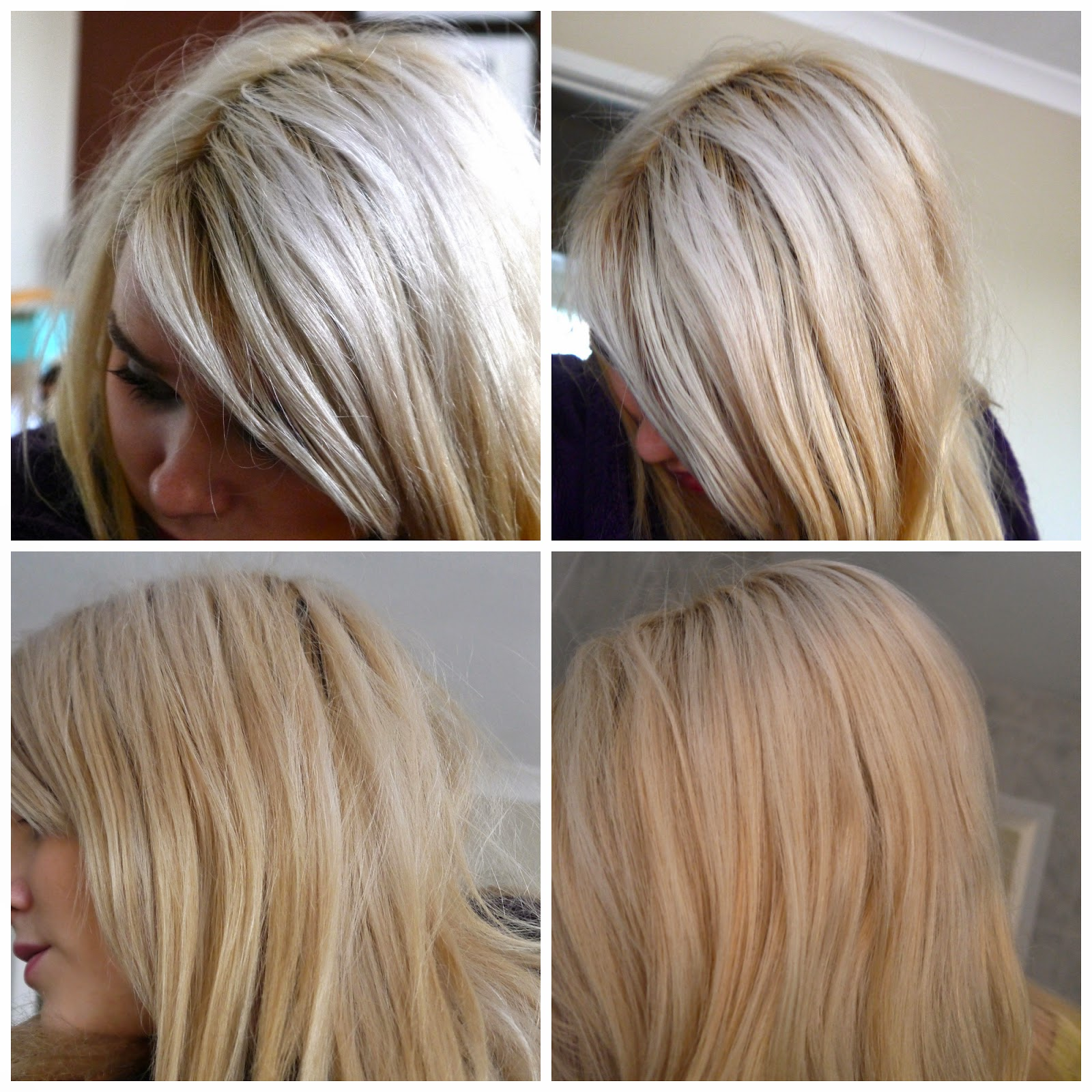 Live Colour L Toner Mousse For Blonde Hair Before After