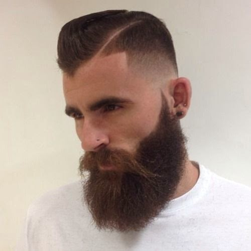 mens line hairstyles with beards
