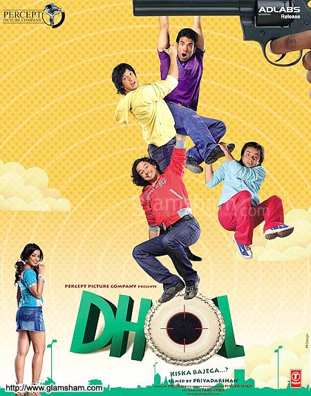 Poster Of Dhol 2007 720p Hindi DVDRip Full Movie Download