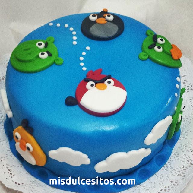 Tortas Angry Birds. Venta de tortas infantiles personalizadas en Lima, Santa Anita, Ate, La Molina, San Borja