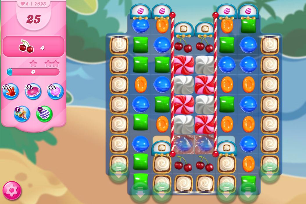 Candy Crush Saga level 7628