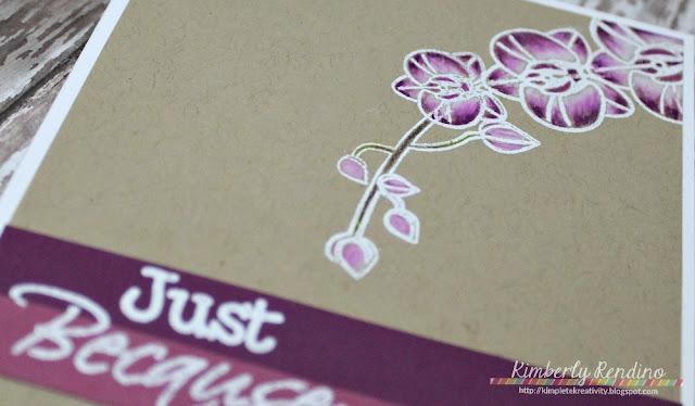 orchid | handmade card | kimpletekreativity.blogspot.com | craftin desert divas | prismacolors