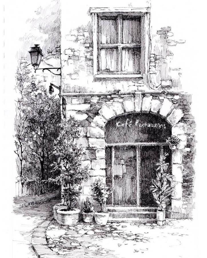 05-Coffee-Shop-Restaurant-sketches-Asmik-Babaian-www-designstack-co
